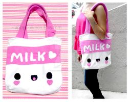 Cute Milk Tote by CosmiCosmos