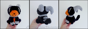 Houndoom Beady-Eyed Plush by xBrittneyJane