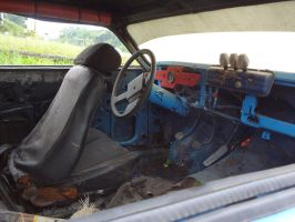 Interior of a abandoned modified Caravan by SD40-2