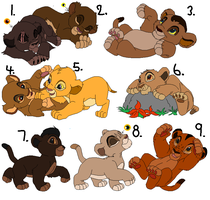 Lion Cub Adoptables 8 ALL ADOPTED by CandyNtheSweetettez