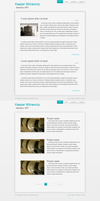 Minimal blog layout by Idered