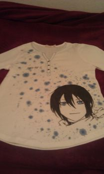 Noragami - Yato Shirt by moonthewolfpriestess