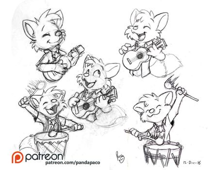 Hukley playing instruments. by pandapaco
