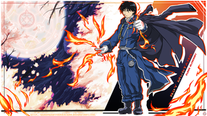 WALLPAPER Roy Mustang Flame Alchemist by shadowhatesomochao