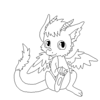 Chibi Dragon Lineart by Xbox-DS-Gameboy