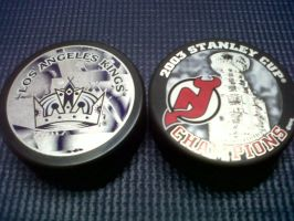 Kings vs. Devils pucks (2012 SC Finals) by PenaltyShot99