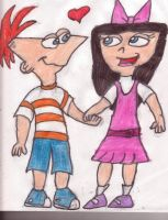 Phineas + Isabella by sideshowbobfanatic