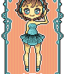 Art Nouveau Pixel -- Angel by Hardrockangel