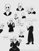 [Undertale] W. D. Gaster by Amadere