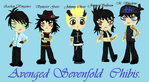 Avenged Sevenfold Chibis by psychonessa333