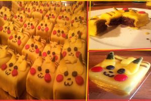 Little Pikachu Cake by Bloody-Idea