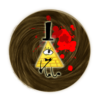 Bill Cipher Button by Shinyako