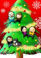 MERRY CHRISTMAS FAMILY CARD by Witchking00