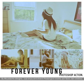 Forever yong action. by moustache-designs