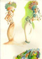 watercolor gals by ChennyCurtis