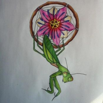 mantis dreamcatcher by AnythingButThat
