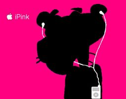Pink Panther iPod by DarkAdalai