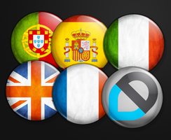 European Countries Badges by aciddagger