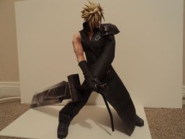 FFVII Advent Children Cloud Papercraft by LegendofFullmetal