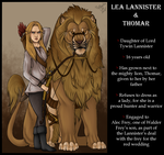 Lea Lannister and Thomar the Lion by KaiKenNatsuki