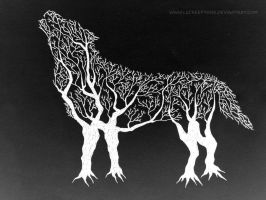 Wolf Tree by LeCreepyOne