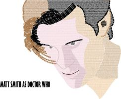 Matt Smith as Doctor Who (Typed Face) by mca2008