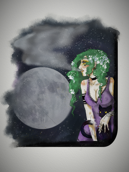 Green haired Witch by Insanity-is-who-I-am