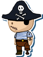 Pirate sticker by Death-of-all