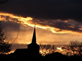 church silhouettes by Pagan-Stock