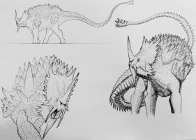 Anguirus: The Impenetrable  by artisticallyautistic