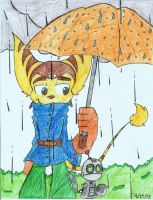 Ratchet and Clank: In the Rain by ADSHedgehog