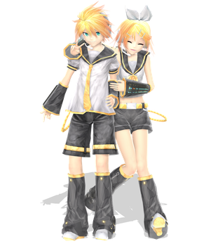 .: DL Series :. Ginjinshi Kagamine Twins by Duekko