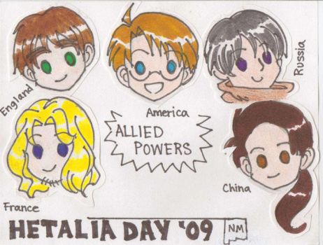 Hetalia Day NM nametags:Allies by tokicandy