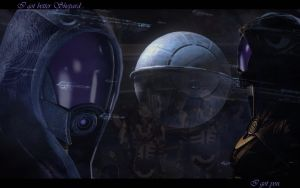 ME2 Wallpaper - Tali by zepheera