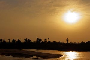 Sunset at the Nile by FeliDae84