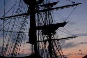 Tall Ship from 1812 by ParadoxGirl411