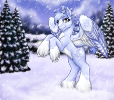 Mare of the Snowfall by ClemiKinkajou