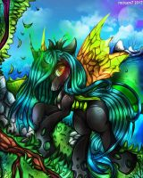 Queen Chrysalis (+Speedpaint) by rocioam7