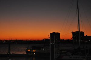 Sunset in Portsmouth 1 by Khaoshound