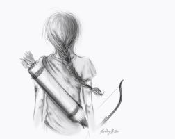 Katniss Sketch by sapphiresky1410