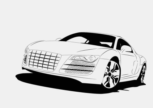 Audi R8 - Vector by rephl