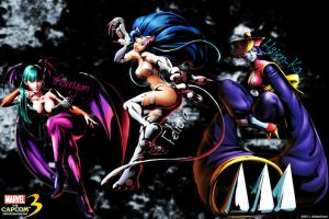 MvC3 Darkstalkers Wallpaper by vMatoKuroi
