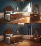 Mansion Bedroom (VN Background) by ExitMothership