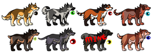 Dog Adopts -4/8 OPEN- by SilenceMoonskin