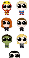 ChibAvengers + ChibLoki by CircusMonsters
