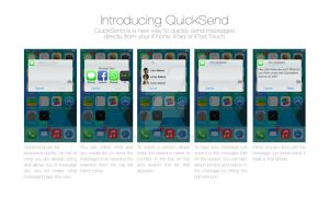 iOS9 QuickSend Messaging Concept by studiomonroe