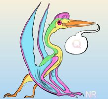 Q is for Quetzalcoatlus by MilkToothCuts