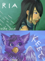 CG2 - Leyla and Birdy by wolfie-janice