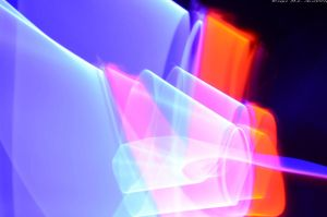 Purple(UV)/Red Light Painting Trial by M-L-Griffith