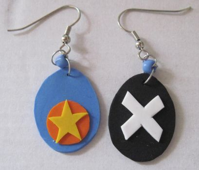 Shugo Chara Earrings 2 by puppy-lou